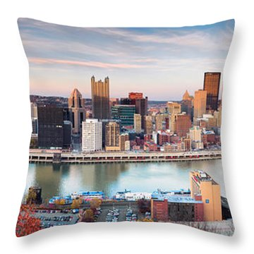 Fall In Pittsburgh  Throw Pillow