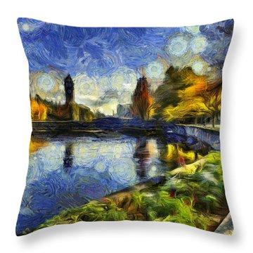 Fall In Riverfront Park Spokane Throw Pillow
