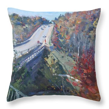 Fall In Silver Creek Georgetown  Throw Pillow
