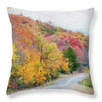 Fall In Southern Oklahoma Throw Pillow