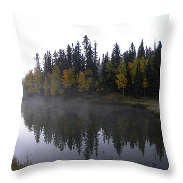 Kiddie Pond Fall Colors Divide Co Throw Pillow