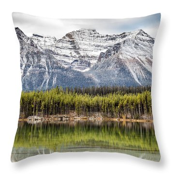 Fall In The Canadian Rockies Throw Pillow