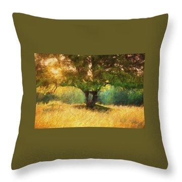 Fall In The Meadow Throw Pillow