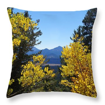 Fall In The Rockies Throw Pillow