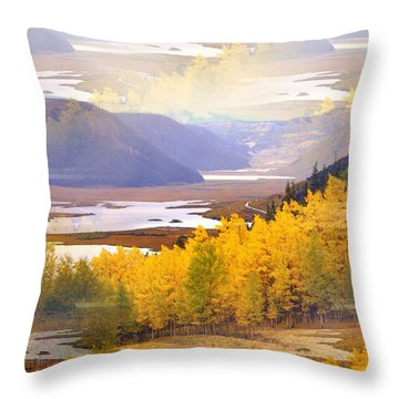 Fall In The Rockies Throw Pillow by Marty Koch