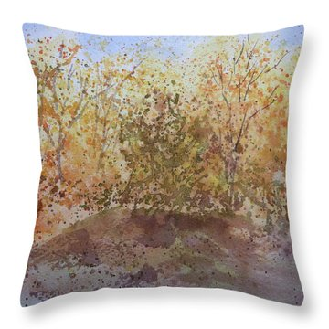 Throw Pillow featuring the painting Fall In The Tejas High Country by Joel Deutsch