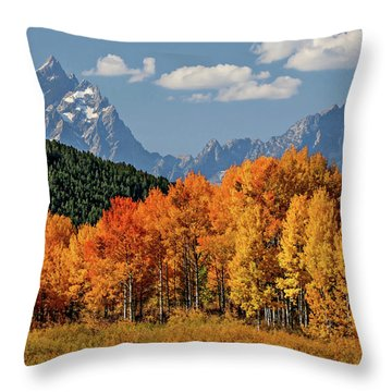 Fall In The Tetons Throw Pillow