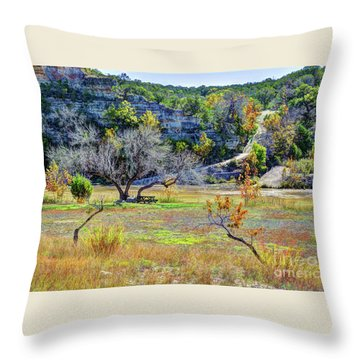 Fall In The Texas Hill Country Throw Pillow