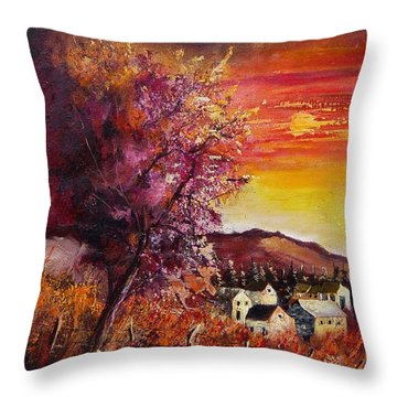Fall In Villers Throw Pillow by Pol Ledent