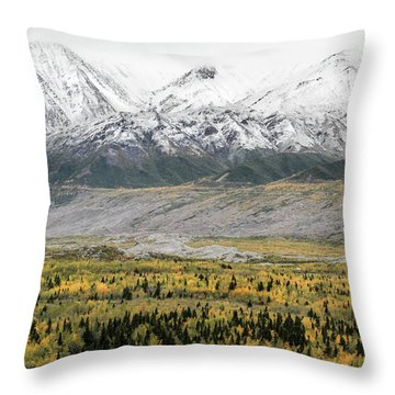 Fall In Wrangell - St. Elias Throw Pillow
