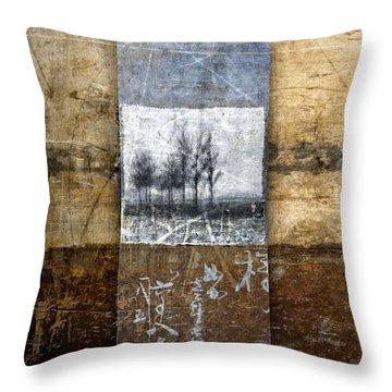 Fall Into Winter Throw Pillow by Carol Leigh