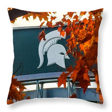 Fall Is Football Throw Pillow