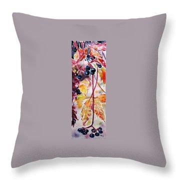 Throw Pillow featuring the painting Fall by Kovacs Anna Brigitta