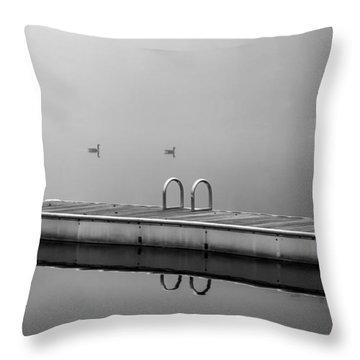 Fall Lake Throw Pillow