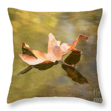 Fall Leaf Floating Throw Pillow