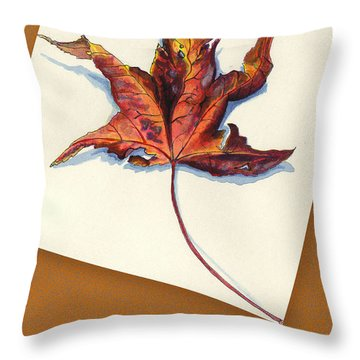 Fall Leaf Throw Pillow