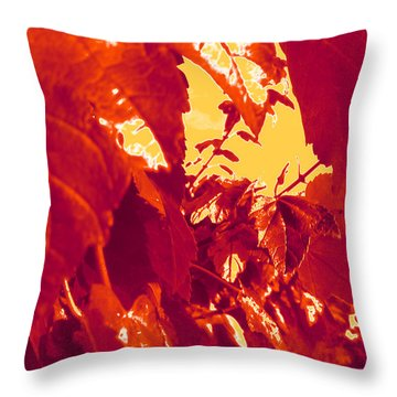 Fall Leaves #13 Throw Pillow