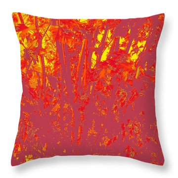 Fall Leaves #4 Throw Pillow