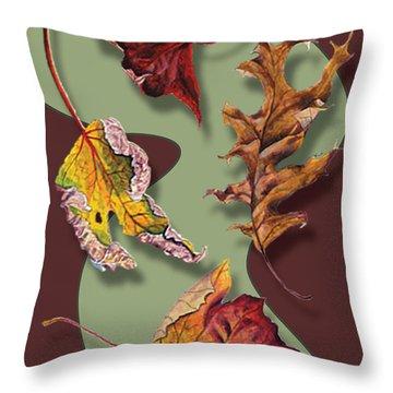 Fall Leaves Card Throw Pillow