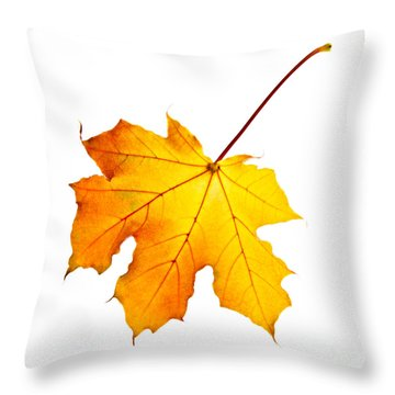 Red Leaves Throw Pillows