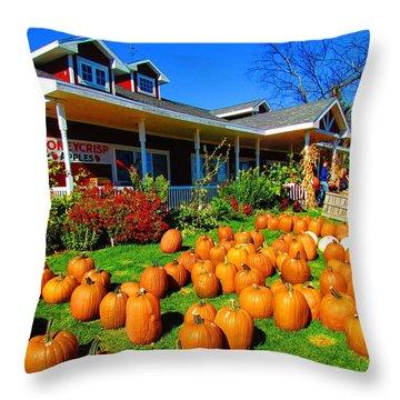 Fall Market Throw Pillow