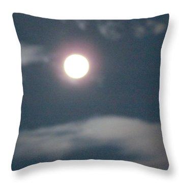 Fall Moon Throw Pillow by Bonnie Muir