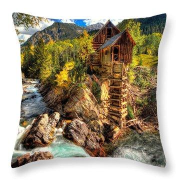 Fall N Mill  Throw Pillow