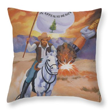Fall Of Babylon Throw Pillow