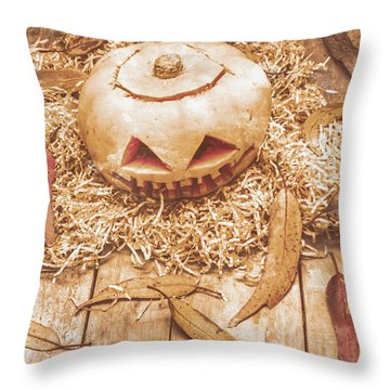 Fall Of Halloween Throw Pillow by Jorgo Photography - Wall Art Gallery