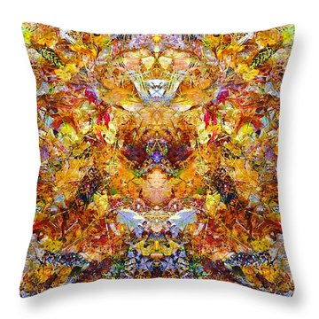 Fall Of The Leaf Gods  Throw Pillow
