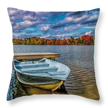 Fall On Alloway Lake Throw Pillow