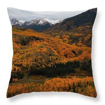 Fall On Full Display At Capitol Creek In Colorado Throw Pillow by Jetson Nguyen