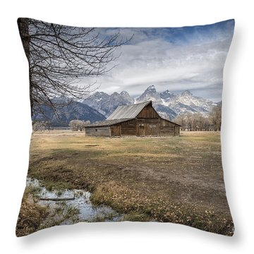 Throw Pillow featuring the photograph Fall On Mormon Row - Grand Teton National Park by Sandra Bronstein