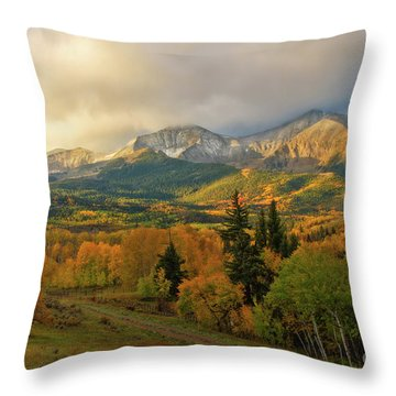 Fall On Mt Sopris  Throw Pillow