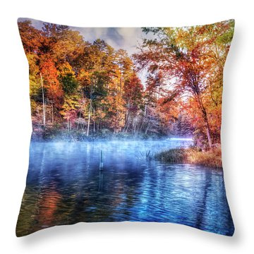 Throw Pillow featuring the photograph Fall On The Lake by Debra and Dave Vanderlaan