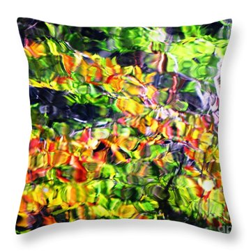 Fall On The Pond Throw Pillow