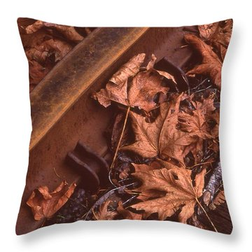 Fall On The Rails Throw Pillow
