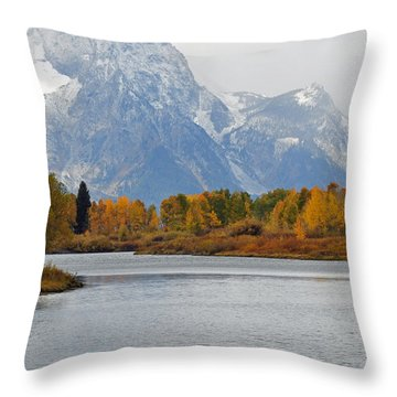 Fall On The Snake River In The Grand Tetons Throw Pillow