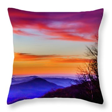 Fall On Your Knees Throw Pillow by Karen Wiles