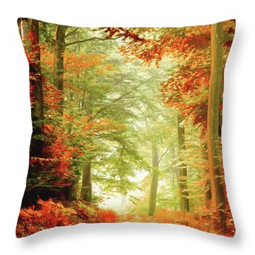 Fall Painting Throw Pillow