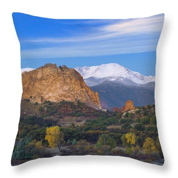 Fall Panoramic Throw Pillow