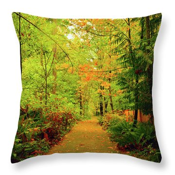 Fall Path Too Throw Pillow