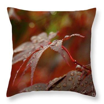 Fall Rain Throw Pillow