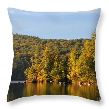 Fall Reflection Throw Pillow by Michael Mooney