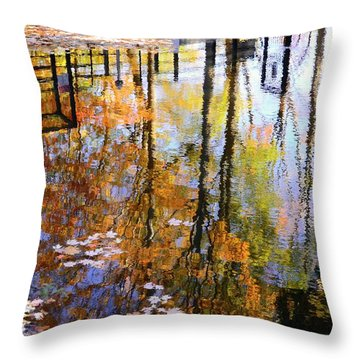Throw Pillow featuring the photograph Fall Reflections by Corinne Rhode
