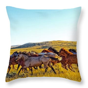 Fall Run In Patina Throw Pillow