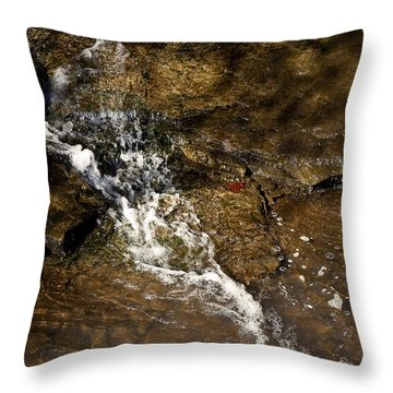 Throw Pillow featuring the photograph Fall Runoff At Broadwater Falls by Michael Dougherty