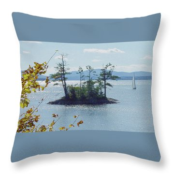 Fall Sailing Throw Pillow
