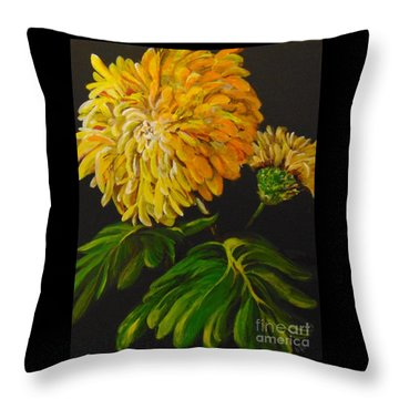 Throw Pillow featuring the painting Fall by Saundra Johnson