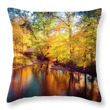 Fall Scene In Stillwater Throw Pillow